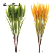 MagiDeal 2 Piece Artificial Real Touch Wheat Foliage Plant Garden Floral Decor Green/Yellow