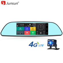 "Junsun A600 Pro 4G ADAS Car DVR Camera GPS Mirror 7"" Android 5.1 Rear View Mirror DVRs with two Cameras Full HD 1080P dashcam"