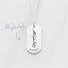 DIANSHANGKAITUOZHE Ldentity Name Plate Pendant Necklace Private Ordering 2017 Popular Surface Engraving Necklace Stainless Steel