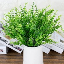 New  Artificial Plants Green Grass Clover Plant Plastic Flowers Household Store Dest Rustic Home Decoration
