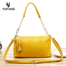 YUFANG Women's Crossbody Bags Genuine Leather Female Handbag Natural Leather Ladies Shoulder Bag Sweet Style Messenger Bag(China)