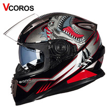 Vcoros Brand Winter Full face Motorcycle helmet Anti-fog lens Double shiled Sun visor glass Full face motorbike Racing helmets(China)