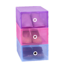2016 Simple PP green shoes box high quality colors storage boxes for shoes clear plastic shoes box for men  women