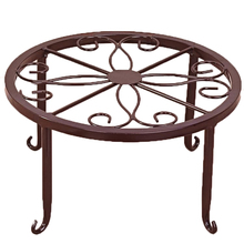 Hot selling European flower iron Arts balcony Monolayer florist Console pot frame Storage Rack
