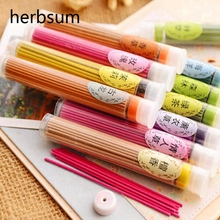 10Pcs/lot Sticks incense Aromatherapy fragrance Fresh Air Natural Aroma indoor spices Sandalwood Jasmine rose Lavender Cologne(China)