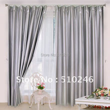 wholesale & retailing customized ready made silver blackout fabric hometextile hotel decoration window treatment curtain