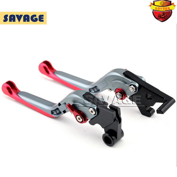 For YAMAHA MT25 MT-25 MT-03 2015-2016 Titanium+Red Motorcycle Adjustable Folding Extendable Extending Brake Clutch Levers<br><br>Aliexpress