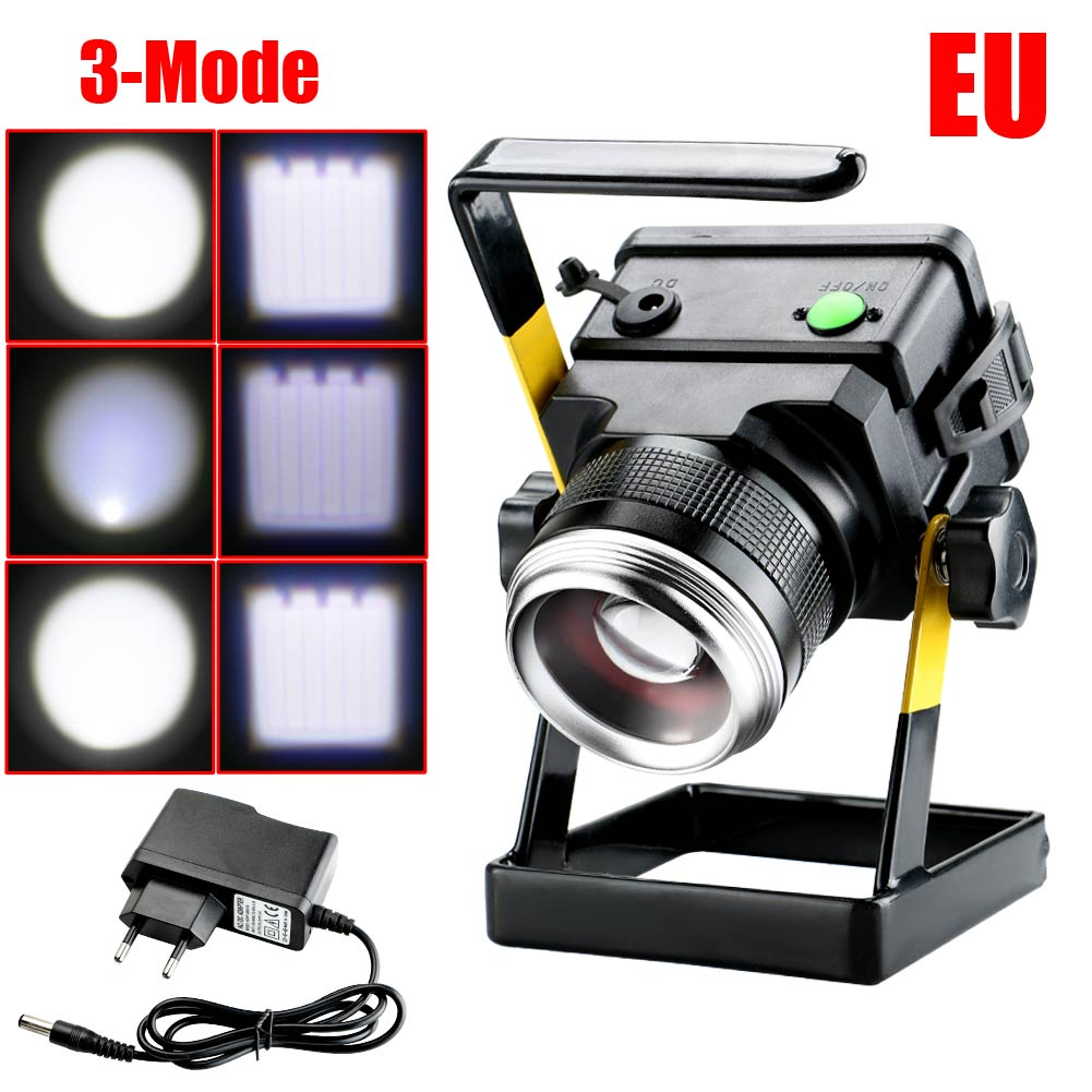 30W Rechargeable Convex Lens Portable Lamp Focusing Floodlights Work Light for Emergency Maintenance Gard Work Camping<br><br>Aliexpress