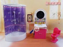 The new DIY dress up doll furniture bathroom 3 sets of home accessories toys puzzle universal(China)