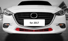1pc for Mazda 3 Axela 2017 2014-2016 Below Front grille Decorative frame Intake grille Decorative frame Bright sticker(China)