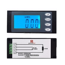 LED 20A AC Digital Panel Power Meter Ammeter Monitor KWh Time Watt Voltmeter S08 Drop ship(China)