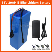 Hot sale 36V Lithium battery 36V 20AH Electric Bike battery 36 V 20ah 1000W Scooter Battery with 30A BMS 42V 2A charger(China)