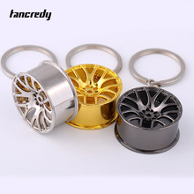 Tancredy Car Wheel Rim Model Car Keychain Car Key Ring Key Holder Car Key Chain For Mercedes Ford Opel BMW Audi VW Skoda(China)