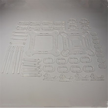 DIY mePed Quadruped Robot 3mm acrylic sheet laser cut plate kit Quadruped mechanical parts kit/set