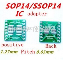 Free shipping 20pcs/lot SOP14 SSOP14 TSSOP14 SOP TO DIP 0.65/1.27mm IC adapter Socket / Adapter plate / PCB in stock