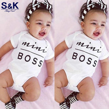2017 Newborn Baby Clothes Baby Infant Boy in Girl Cotton Bodys Mini BOSS Toddlers Children Overalls Apparel XH-152