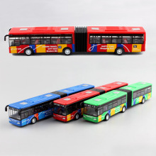 1:64 Scale 18cm small pull back shuttle bus children's metal diecast model vehicle motor auto cars toys baby gift for kids boys(China)