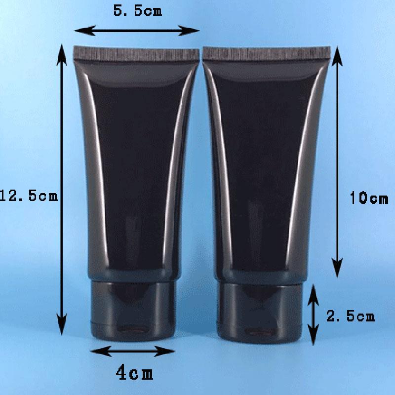 50ml 60ml black flat soft tube (2)