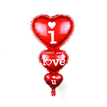 1pc baloon big i love you balloons party decoration heart engagement anniversary weddings valentine balloons(China)