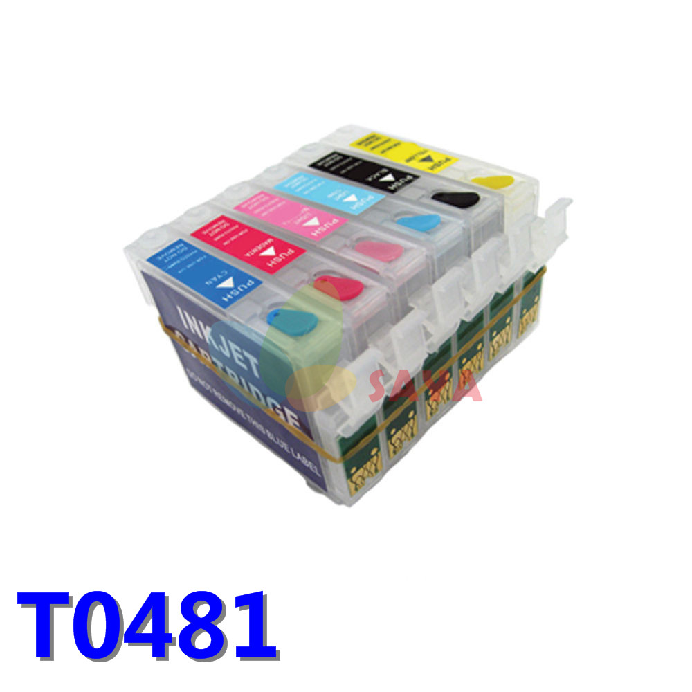 T0481 Refillable Ink Cartridge Compatible For Epson Stylus Photo R200 R220 R300 R300M R320 R340 RX500 RX600 RX620 RX640 Printer<br><br>Aliexpress