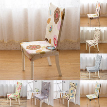 Flower print Polyester streching Universal Spandex Dining Room Wedding Banquet Chair Cover Slip Cover for back chair decor