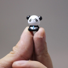 1Pcs/cute panda/miniatures/lovely cute figurine/fairy garden gnome/moss terrarium decor/crafts/bonsai/ DIY/m010