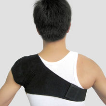 Shoulder Brace Men Adjustable Left Right Single Shoulder Support Belt Tourmaline Products Magnetic Therapy Pain Bandage H007(China)