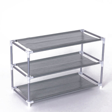 3 Layers removable door shoe storage cabinet shelf DIY shoes storage