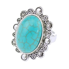 Vintage Look Bohemian Mini Turquoise Rings For Women Africa Bead Jewelry 2015 New Design High Quality Free Shipping