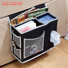 XC USHIO 6 Pockets Bed Sofa Hanging Storage Bag Bedside Toy Pocket Pouch Sundries Tissue Book Magazine Pouch Storage Organizer(China)