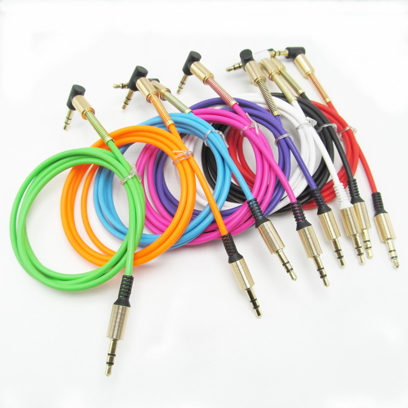 3.5mm Male Male Audio Cable Jack 3 5 Aux Cable iPhone Samsung Car MP3 mp4 Headphone Mobile Phone Speaker Aux Cord Wire