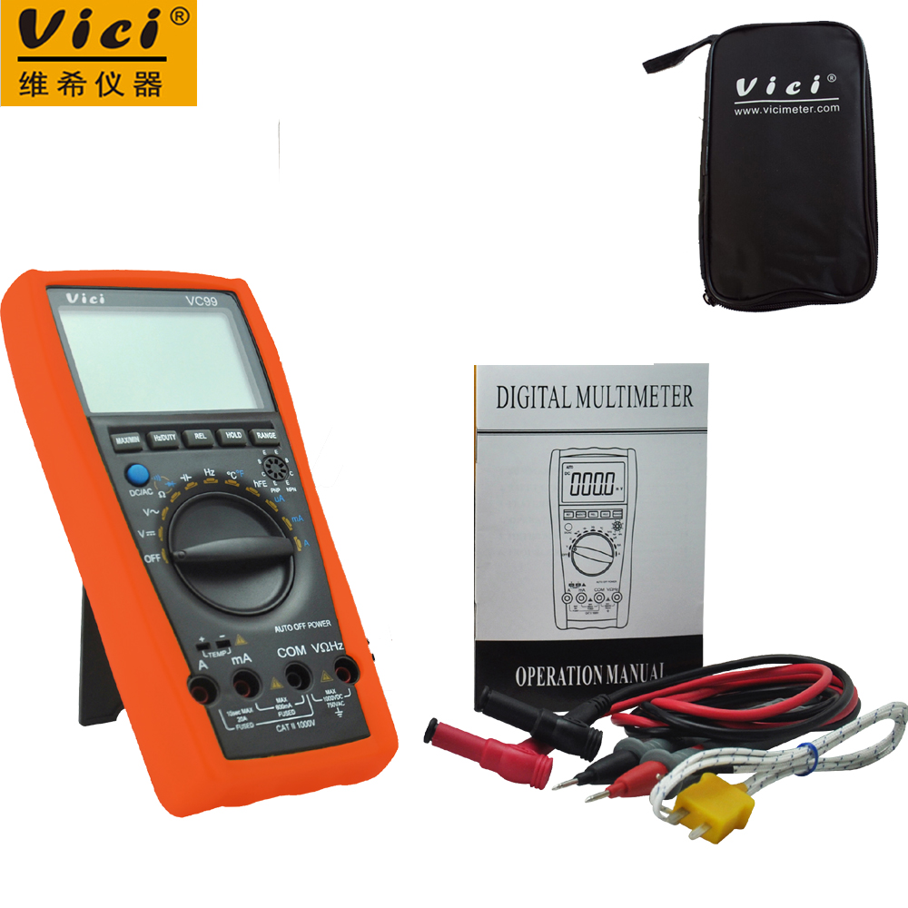 Vichy VICI VC99 3 6/7 Auto range digital multimeter with bag Vici VC99 +Thermal Couple TK cable+black bag<br>
