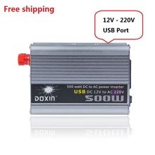 Vehicle  Car Chargers 12v 220v 500w solar car power inverter with USB port