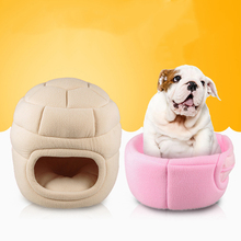 Collapsible Dog Cat Beds Warm Soft Dog House Pet Two Way Sleeping Bag Dog Kennel Beds For Cat Nest Mat Products Autumn Winter(China)