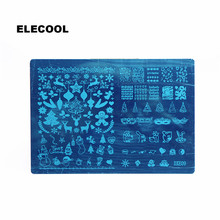 ELECOOL New Arrival Christmas Image Nail Art Stamping Plates Nail Art Stickers Polish Stamping Decal 10 Styles Available
