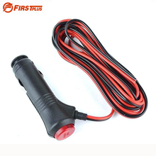 Car Motorcycle 12V-24V Cigarette Lighter Power Supply Adapter Plug Cable with ON-OFF Switch Button Built-in 10A Fuse(China)