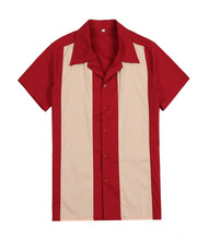 short sleeve casual shirts red online shopping store uk rock n roll designer button up party club wear for men(China)