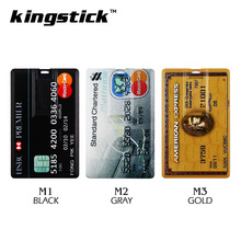 Black Bank Card pendrive 4GB 8GB 16GB Gold Silver USB Flash Drive 32GB 64GB Pen Drive HSBC credit card memory disk USB2.0