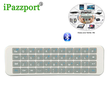 iPazzport Mini Wireless Bluetooth Keyboard Air mouse QWERTY Equipped with two silicon for fire tv stick PC iPad tablet smart TV