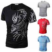 Buy New Arrival Men Summer Fashion O-Neck Short Sleeve Tattoo Pattern Print Casual T-Shirt for $2.81 in AliExpress store