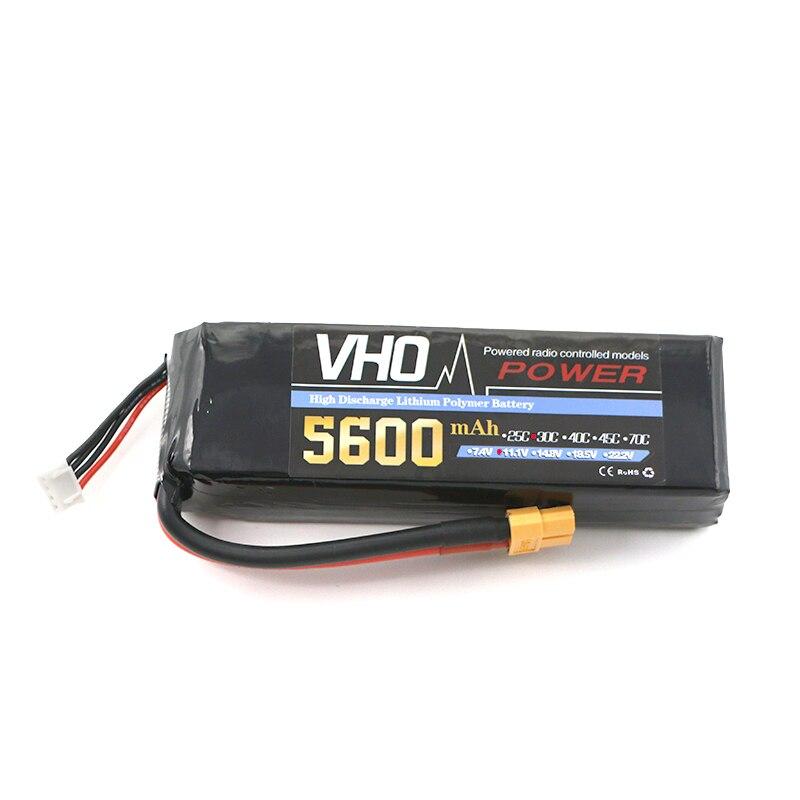 VHO Power Newest Reachargeable Lipo Battery  11.1V 5600mAh 30C 3S Lipo Battery XT60/T/TRX/EC5 Plug For RC Model<br>