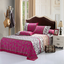 3Pcs Hot Fashion 2 Size Multi Colors Bed Sheet Set Comfort Cotton Bedding Sheet+2 Same Type Pillowcases pillow cover