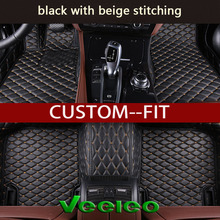 Veeleo 6 Colors Leather Car Floor Mats for Suzuki SX4 Hatchback 2007-2016 Waterproof Anti-slip 3D Carpets Front & Rear Liner(China)
