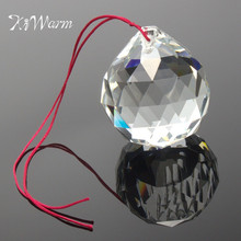 KiWarm 1PC 50mm Clear Crystal Feng Shui Lamp Ball Sphere Prism Rainbow Sun Catcher Pendant Ornaments for Home Car Hanging Decor