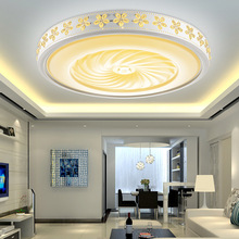 Led ceiling lamp intelligent dimming bedroom modern living room lights bauhinia round lamp wedding hotel interior lights