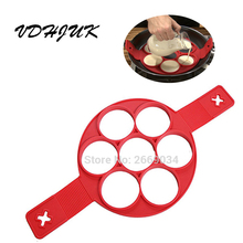 Dropshipping Retail box Good quality thicken new Flippin' Fantastic Nonstick Pancake Maker Egg Ring Maker Perfect Pancakes Easy(China)