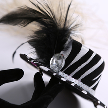 Top hat on Hair clip  50% off for 3pcs high fashion white gem zebra princess birthday bridal shower bachelorette hen party favor