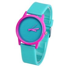 Green Pink Girls Watch New Arrival Silicone Strap Ladies Collection Quartz All-match dames horloge drop shiping(China)