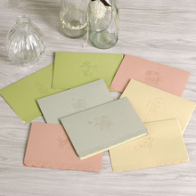 Embossed Business Cards Flower Greeting Cards Birthday/Valentine/Wedding Gift Paper Cards n Envelopes(China)