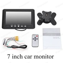 7 inch digital Color TFT LCD with 2 Channels Video small display screen car monitor reverse security monitor for parking camera